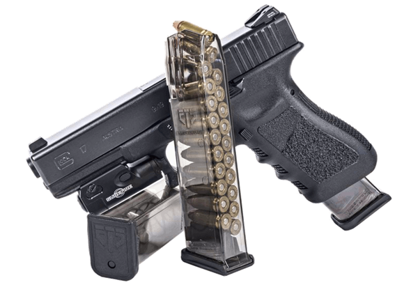 ETS clear double stack glock mags