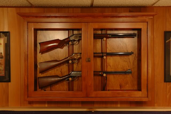 wall mounted gun display