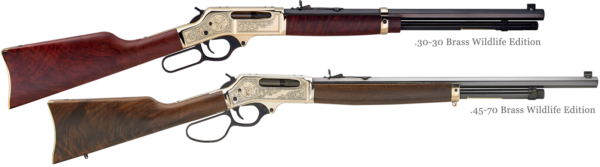 Henry Large Caliber Lever Action Rifles Brass Wildlife Editions
