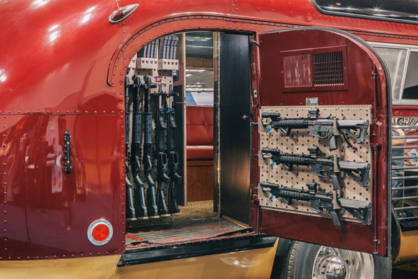 Camper stocked with lots of guns