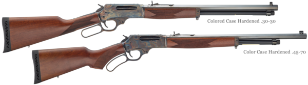 Color Case Hardened Editions Henry Large Caliber Lever Action Rifles