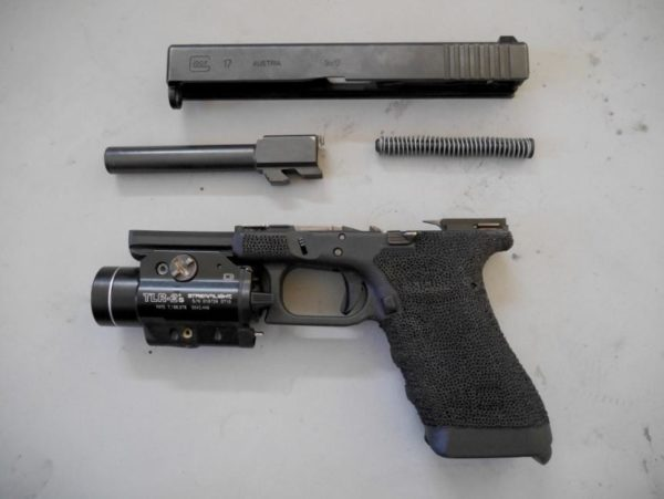 Fieldstripped Glock 17
