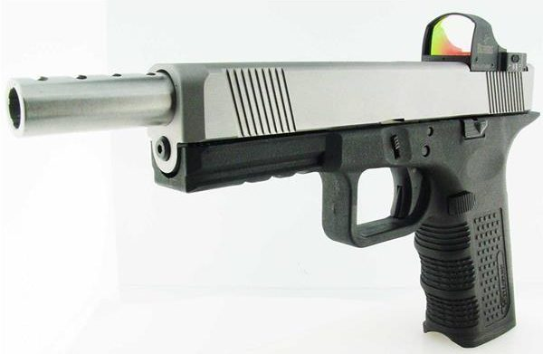 Glock with Lone Wolf ported extended barrel