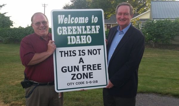 Greenleaf, Idaho: This Is Not a Gun Free Zone Sign