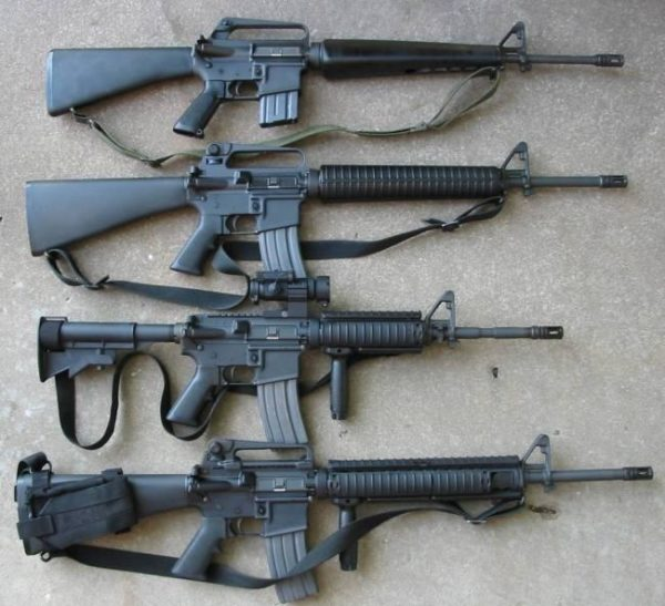 The evolution of the M16 and its offspring, the M4