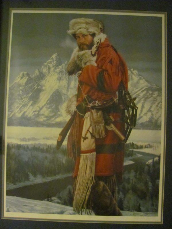 Historical mountain man portrait
