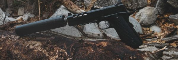 Mounted SilencerCo Hybrid suppressor