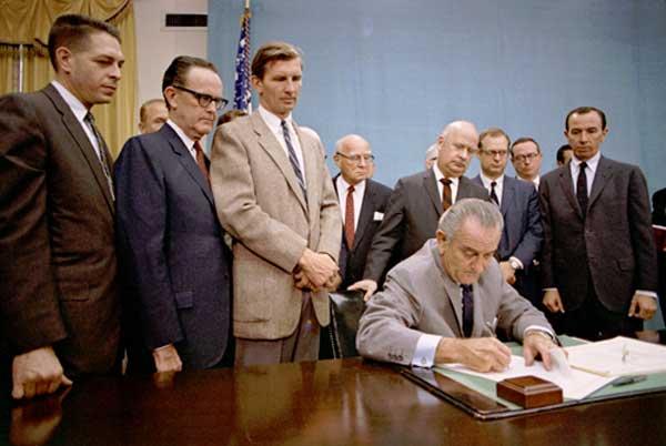 President Johnson signing GCA68