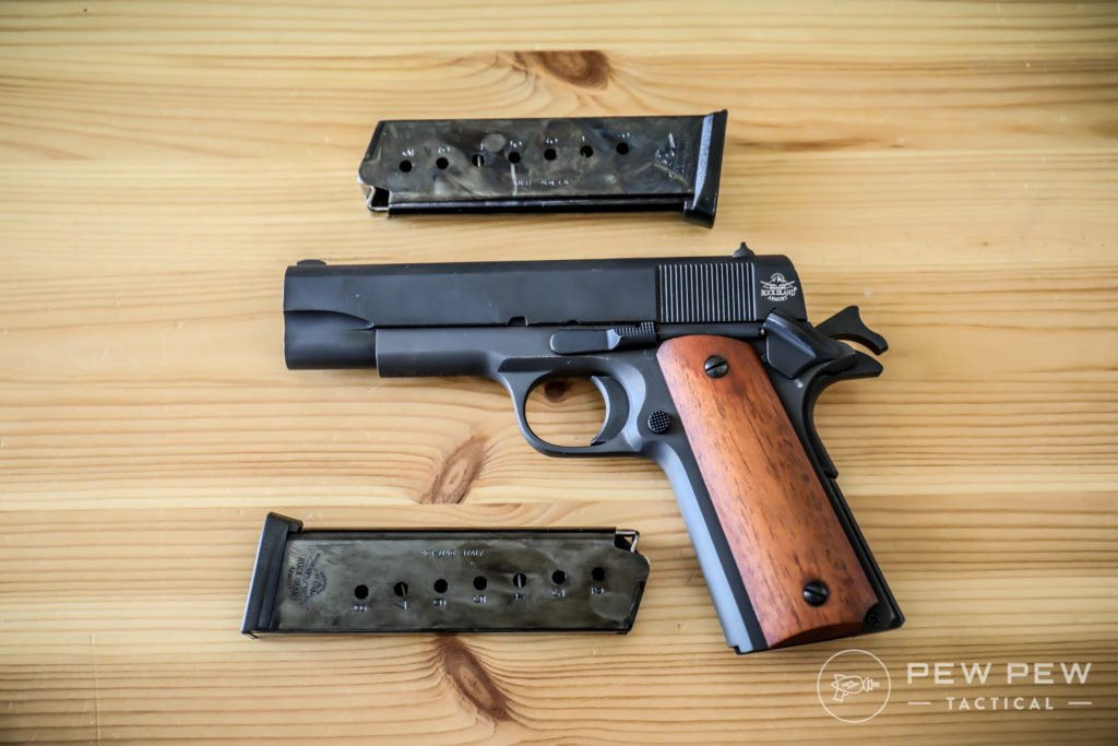 Rock Island 1911 with Magazines