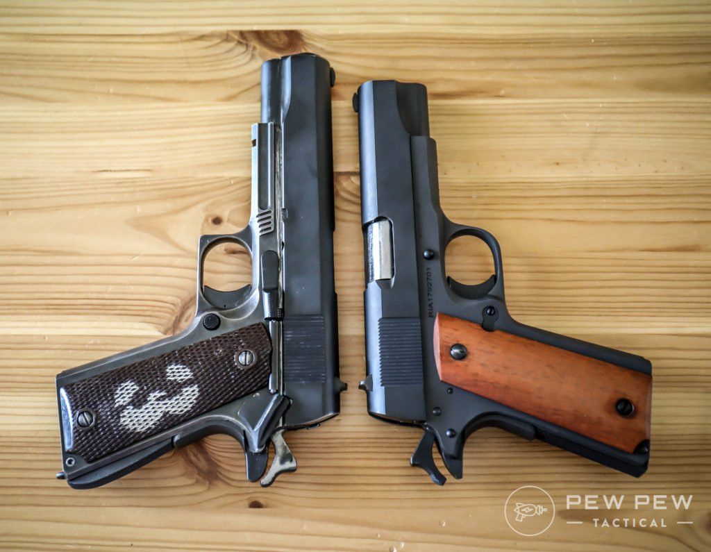 Rock Island Midsize 1911 vs Fullsize