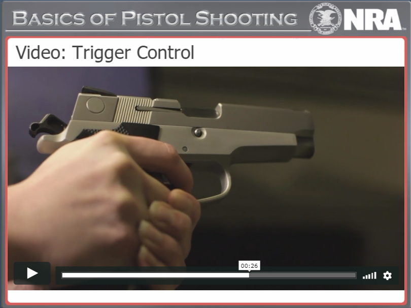 Trigger Control, NRA Basic Pistol