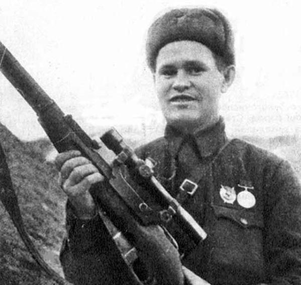 Vasily Zaytsev with His Mosin-Nagant