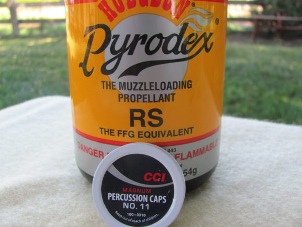 muzzleloading propellant and percussion caps