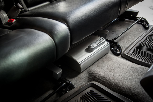Car gun safe under seat