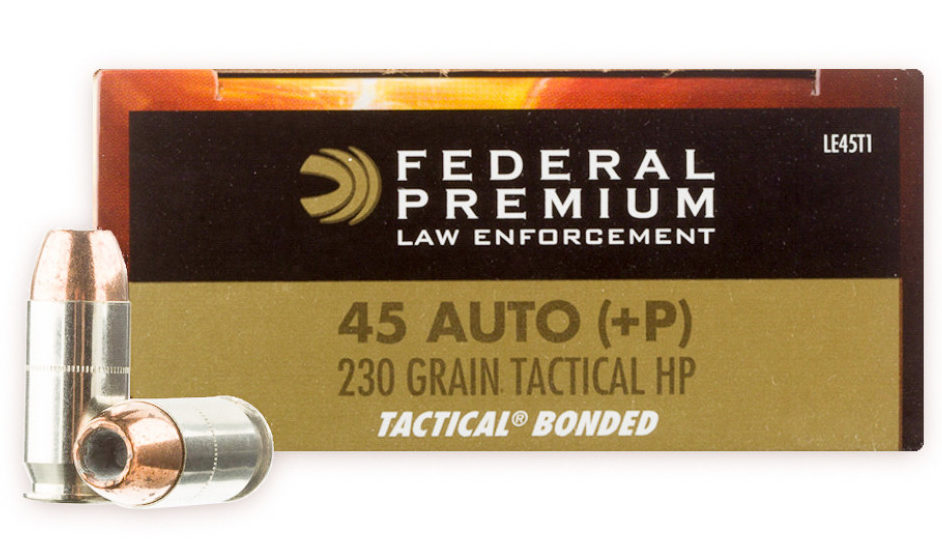 Federal +P 230 gr Tactical Bonded LE
