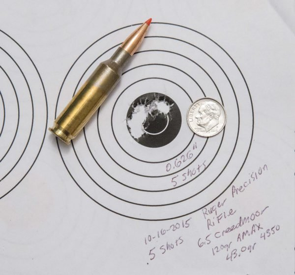 Holes in Target from a 6.5 Creedmoor