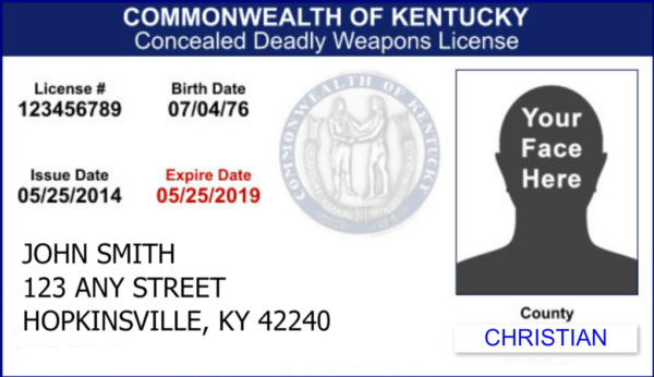 Kentucky CCDW License