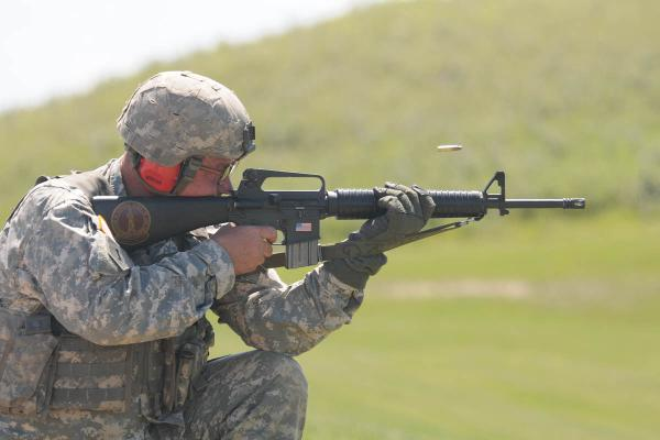 Marine Using an M16A2