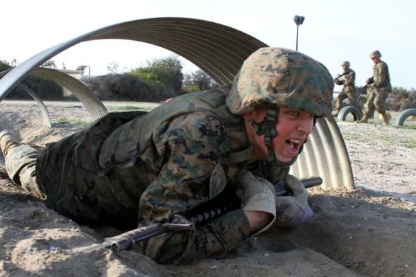 Marine running obstacle course