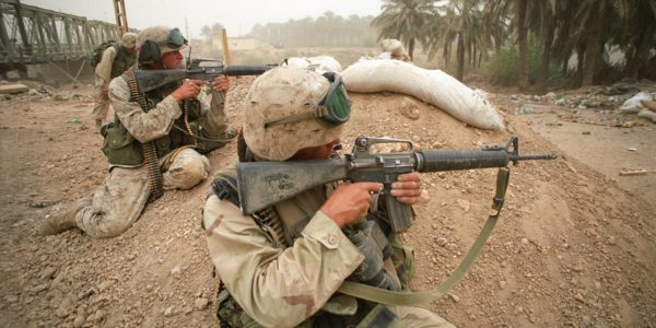 Marines using M16A2