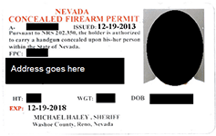 Nevada CCW Permit