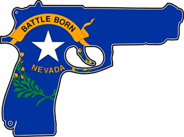 Nevada State Flag in Pistol Form