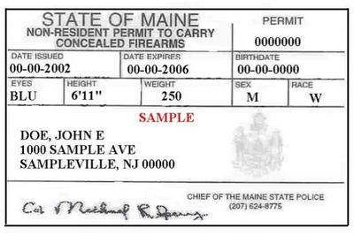 Non-Resident Maine CHP