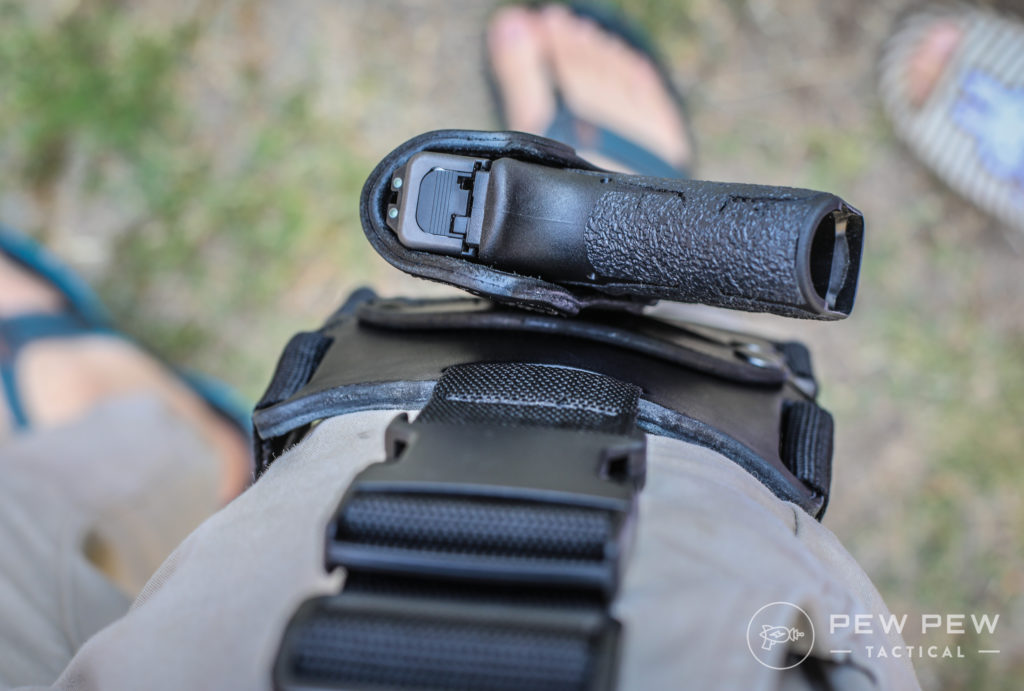 Revo Drop Leg Holster Top View