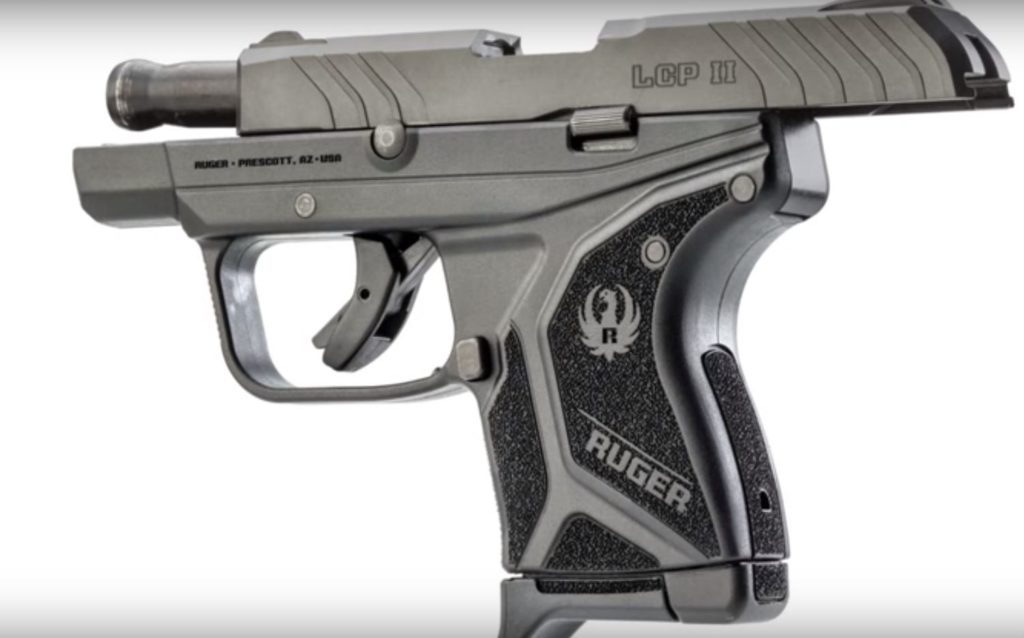 Ruger LCP II with Slide Locked Back