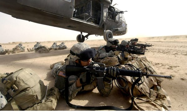 US Military in Desert