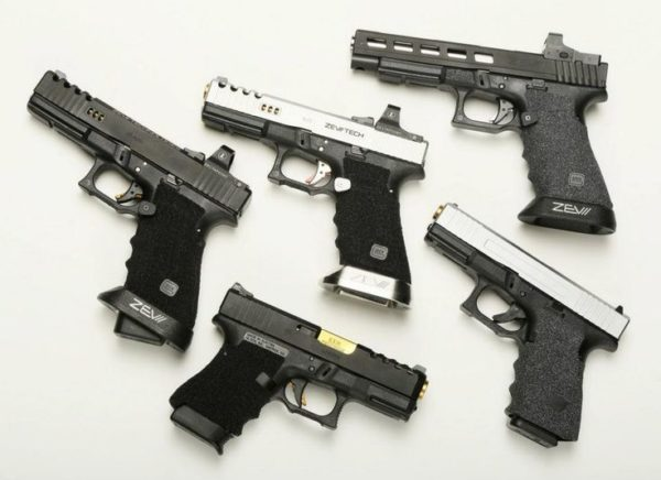 Various Glocks with ZEV parts