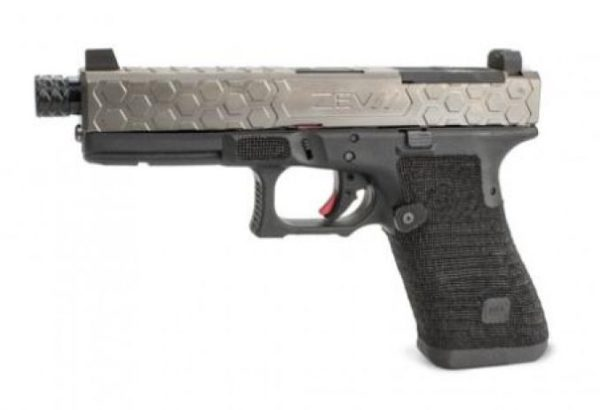 Zev Technologies Hex Slide in Gray on a Glock 17