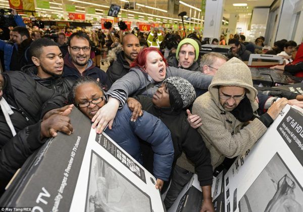 Black Friday Sale Crowd