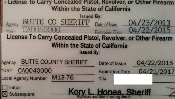 California CCW Licenses