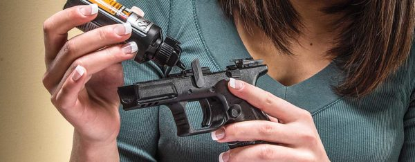 Cleaning internal parts of firearm