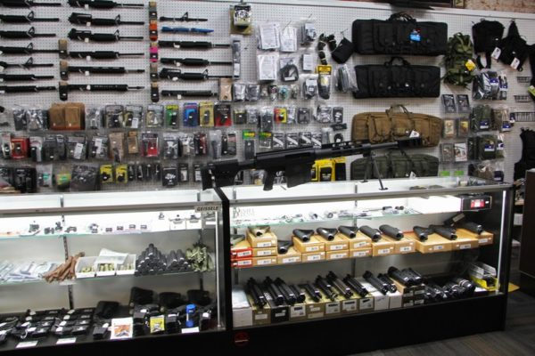 Gun store counter