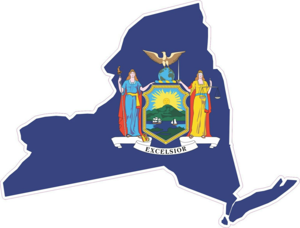 New York Flag in New York State