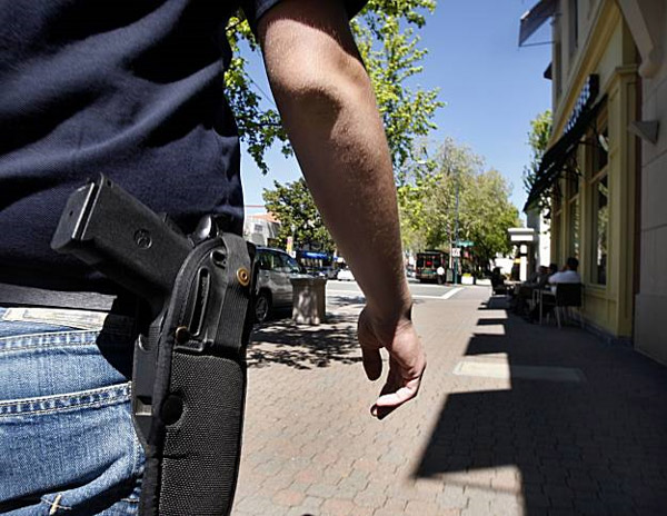 Open carry on city street