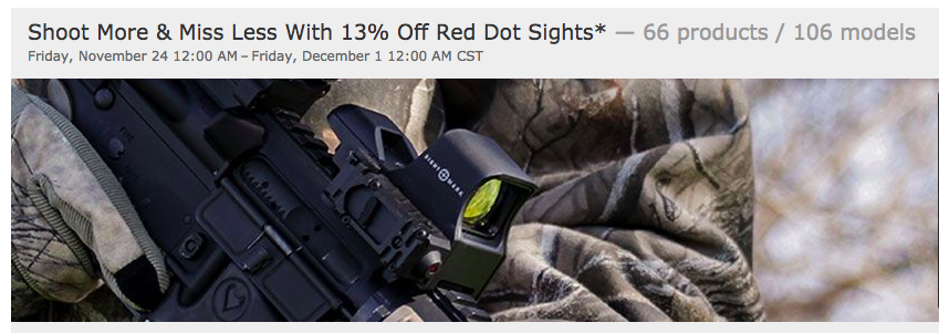 Optics Planet 13% Off Red Dots