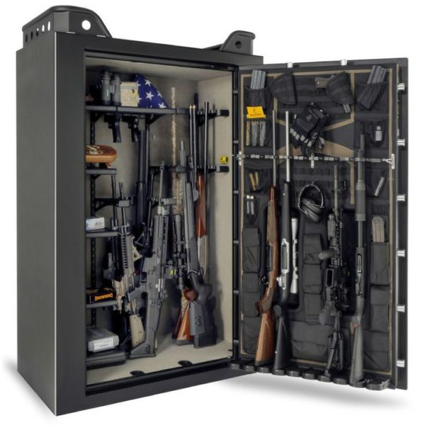 Packed gun safe