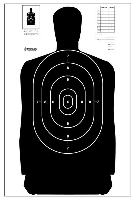 Unused silhouette target