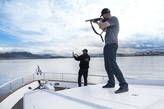 Using gun on boat