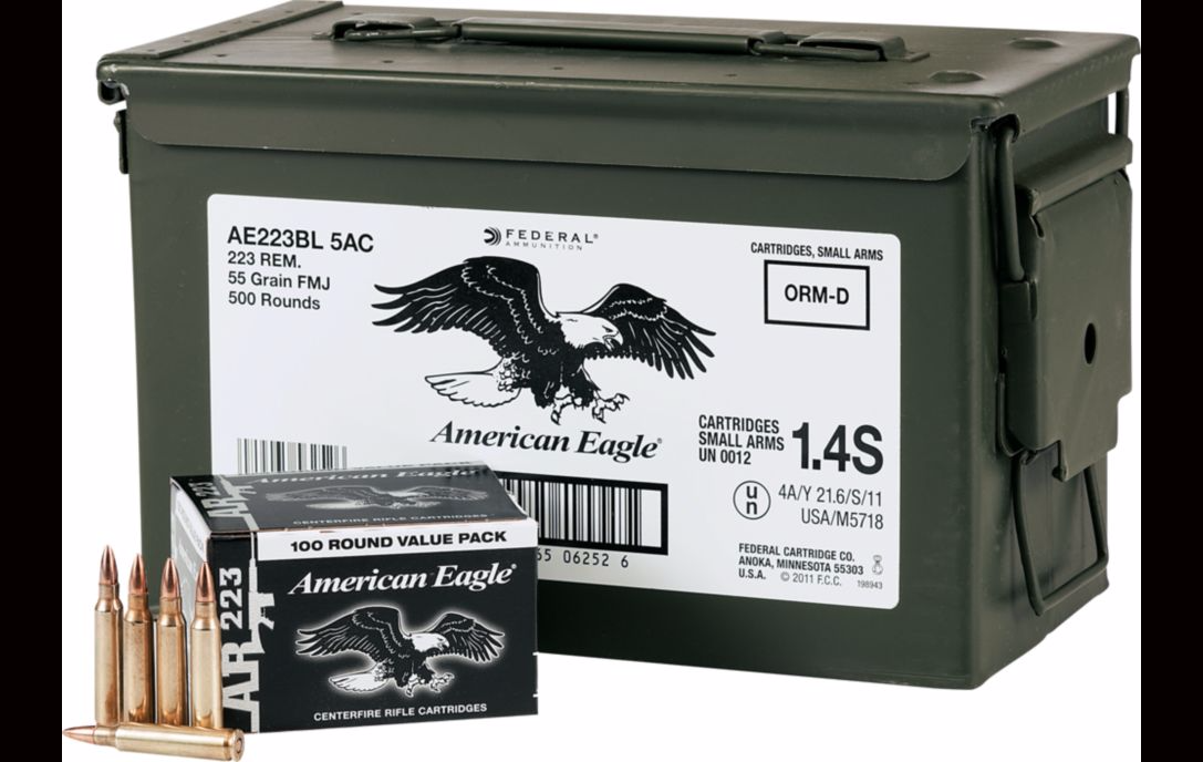 Federal .223/5.56 Ammo Can - $.05/round Off