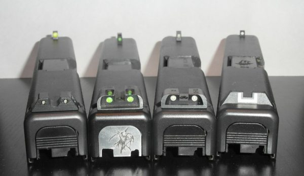 Glock 23 Slides with Night Sights