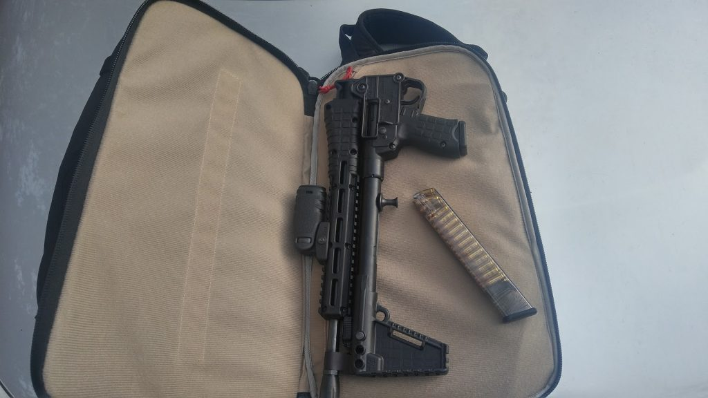 Kel Tec Sub 2000 on case