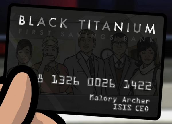 Archer Black Titanium Credit Card