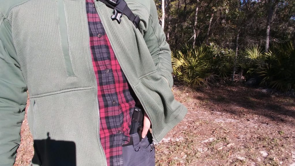 Carrying Concealed under the Propper Full Zip Tech Sweater