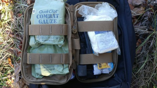 Inside of the RE Factor Tactical First Aid Kit