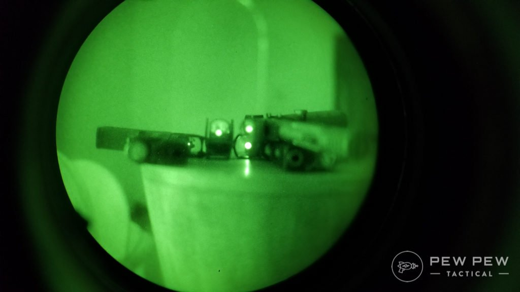 Pistol Red Dot NVG Reflection