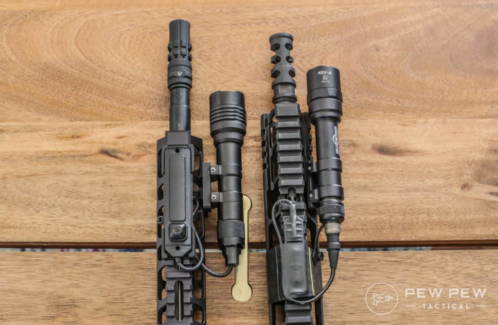 Streamlight ProTac 2 vs SureFire M600